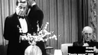"""Charlo canta """"Olvido"""" en el film Puerto Nuevo de 1936"""