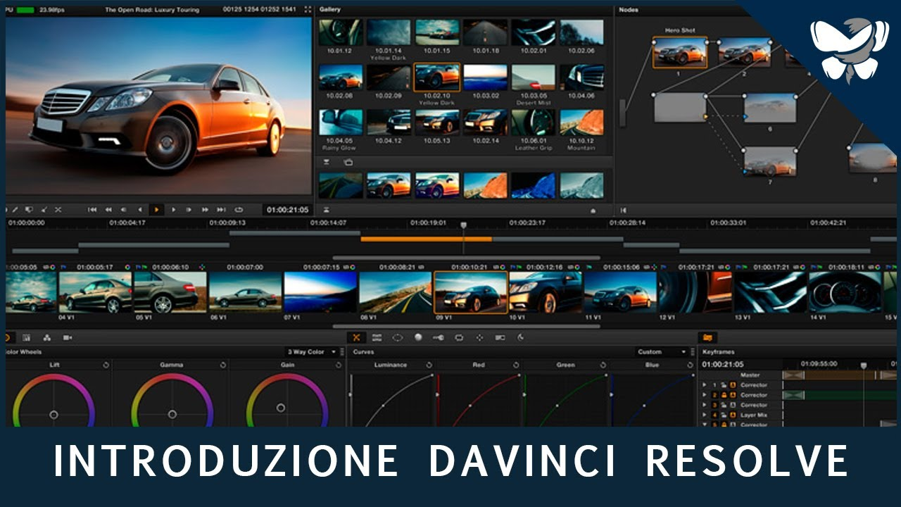 montaggio video 20 davinci resolve lite 9 introduzione base youtube. Black Bedroom Furniture Sets. Home Design Ideas