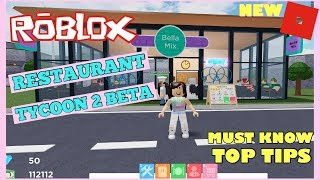 How To Get Rich In 3 Days On Roblox Restaurant Tycoon 2 BETA Top Tips And Tricks | Bella Mix