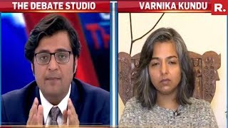 Varnika Kundu Speaks Exclusively To Arnab Goswami | Haryana Stalking Case