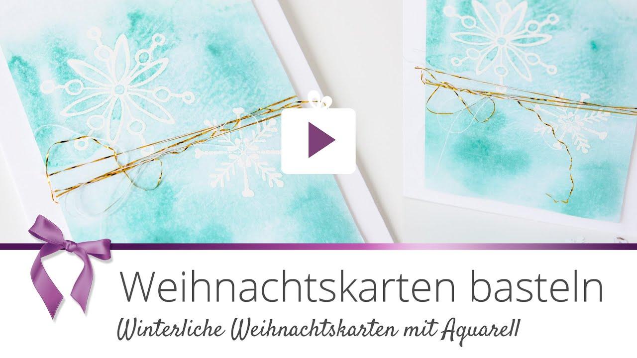 Danato Com Weihnachten.Diy Aquarell Weihnachtskarte Basteln Danato