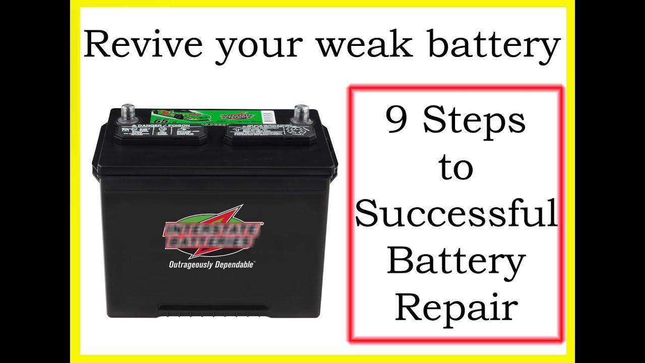 Restore deep cycle lead acid battery  Revive dead sulphated RV car marine  batteries
