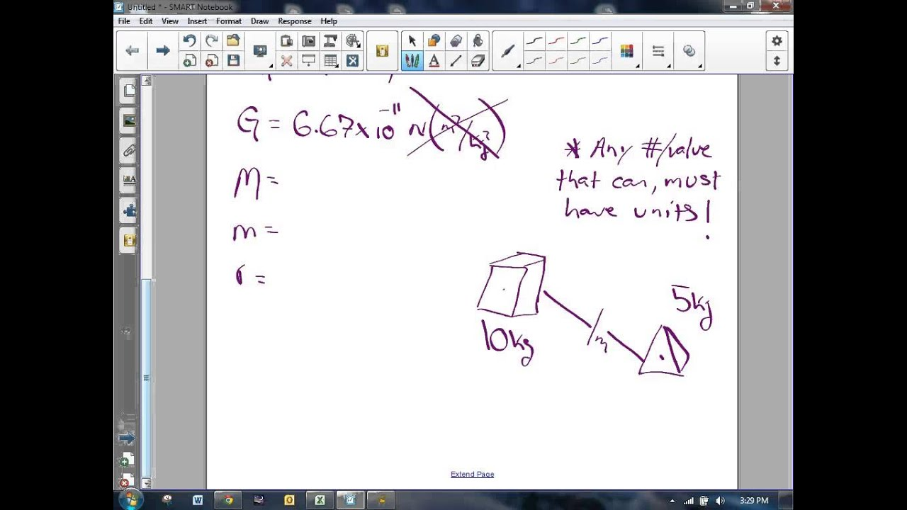 Calculating Force Of Gravity Using Newton S Formula Two