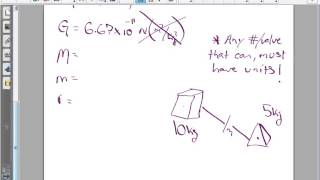 Calculating Force of Gravity using Newton