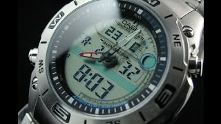 casio fishing gear thermometer moon watch model amw 702d 7a