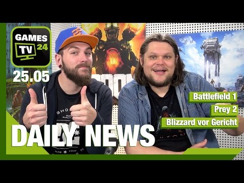 Battlefield 1, Overwatch, Prey 2, Nintendo, Warcraft | Games TV 24 Daily - 25.05.2016