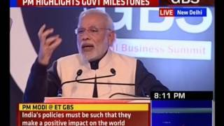 PM at The Economic Times Global Business Summit 2016