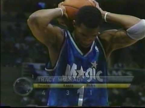 Tracy McGrady facial slam dunk on Tim Thomas (and1)