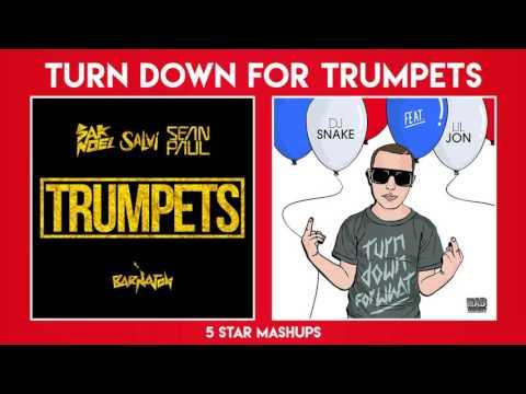 Mashup 3 Trumpets X Turn Down For What Dj Snake Sak Noel Ft Lil Jon Sean Paul Youtube