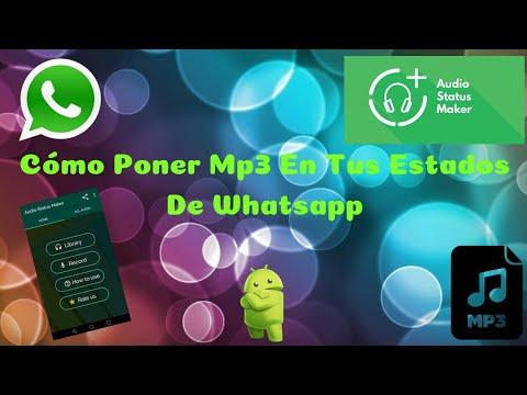 Cómo Poner Mp3 En Tus Estados De Whatsapp Audio Status Maker