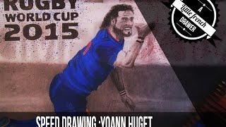 Yoann Huget Rugby world cup 2015 England Speed drawing...Polychromos Faber Castell