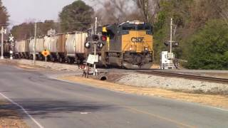 CSX SD70ACE & K5LLA Horn leads an AC60CW on CSXT G961-27 Notch 8 & Rolling as they roll South