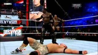 John Cena & The Rock vs The Miz & R-Truth - WWE Survivor Series 2011 Highlights HQ