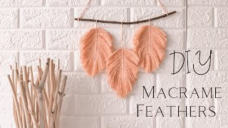 🌿 Macrame Feathers (DIY)  🌿