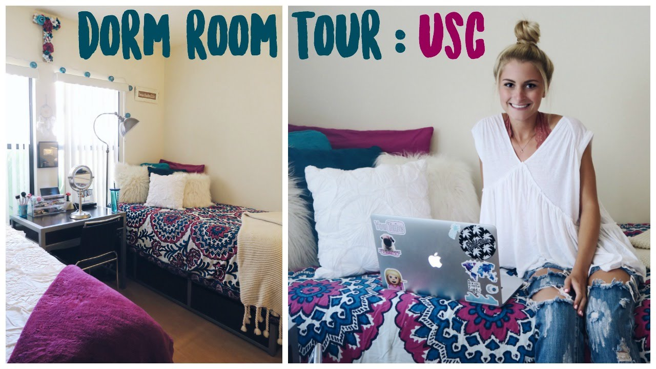 COLLEGE DORM ROOM TOUR 2016 USC  Tasha Farsaci  YouTube
