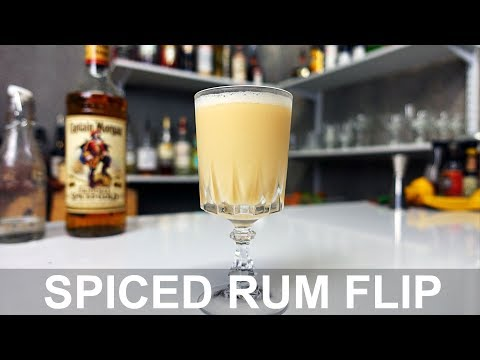 Spiced Rum Flip Cocktail Recipe