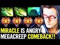 Miracle in ANGRY MODE after Feed alot!! Megacreeps comeback Dota 2 Morphling