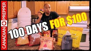 100 Days Worth of Food for $100: LASTS 25 YEARS!