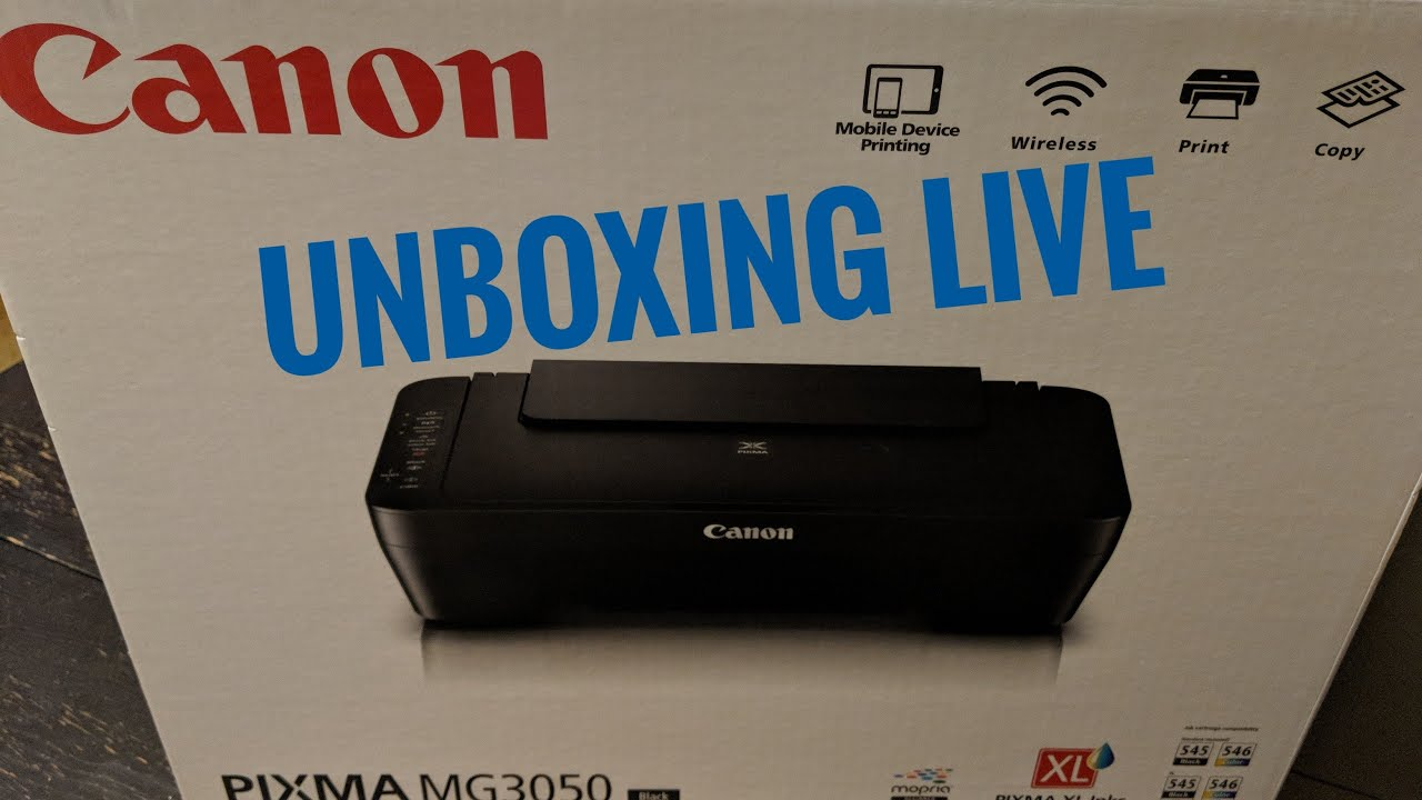Unboxing And Set Up Canon Pixma Mg3050 Printer Plus Review Youtube