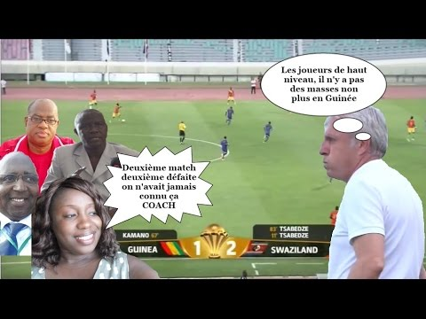 CAN 2017. Guinée – Swaziland (1-2) 2ème défaite pour Louis Fernandez à la tête du Sily national