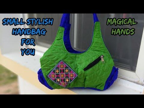 small handbag make at home/cutting and sewing/how to make handbag/