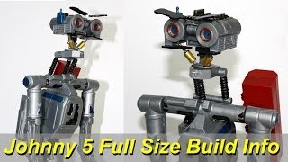 XRobots - Short Circuit Johnny Five Life Sized Build Information, Excellent 80