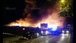 Gros incendie en cours à la gare du Nord, Mulhouse