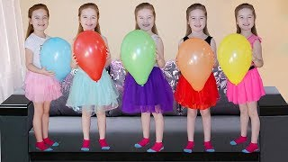 Learn Colors with Five Little Babies Jumping On The Bed Educational Videos Good Song for kids