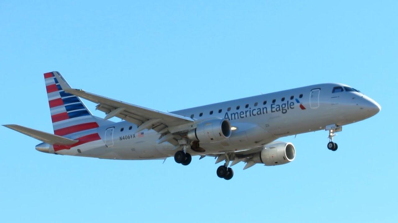 Super Rare American Eagle New Livery Embraer Erj 175