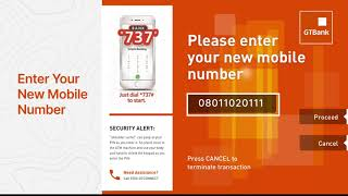 How to update your mobile number at any GTBank ATM
