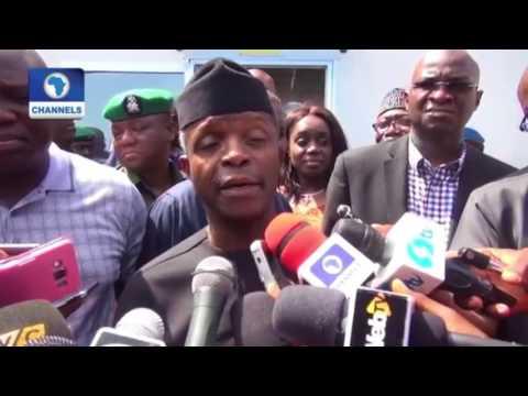 Dangote Refinery In Lekki Free Trade Zone, Lagos. Nigeria's Vice President, Prof. Yemi Osinbajo