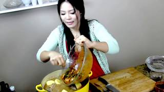 Soup Recipes : Gamjatang (Pork Neck Bone Soup With Potato) : Soup : Asian at Home : Seon