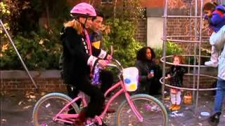 Friends - Ross learning Phoebe how to ride a bike.