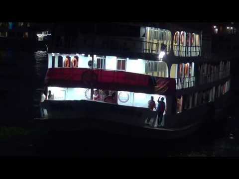 Big Night Ship Dhaka Bangladesh  New রাতের ঢাকার লঞ্চ দেখুন HD Video 121