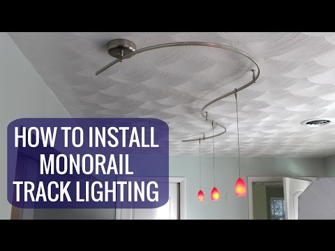 How To Install A Monorail Track Lighting System - YouTube Hampton Bay Ceiling Fan Wiring Diagram Nec on