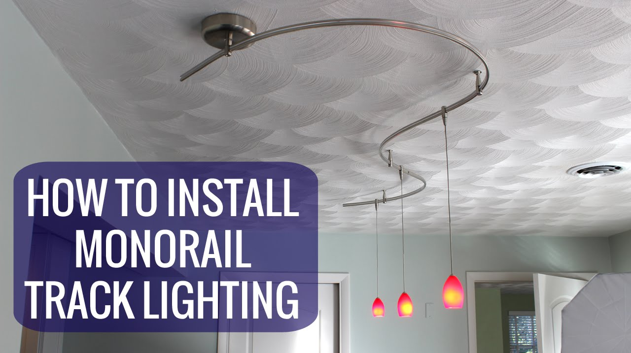 How to install a monorail track lighting system youtube aloadofball