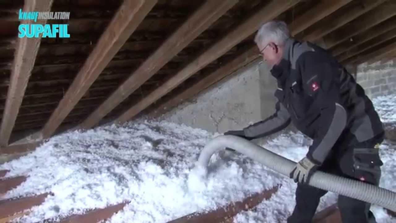 knauf insulation supafil loft plus youtube. Black Bedroom Furniture Sets. Home Design Ideas