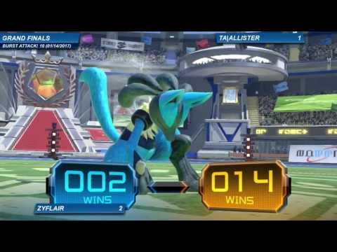Burst Attack! 10 - Grand Finals: Zyflair (Lucario) vs TA   Allister (Mewtwo/Pikachu)