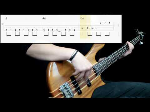 Queen - Don't Stop Me Now (Bass Only) (Play Along Tabs In Video)