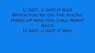 You Got It Bad Usher with lyrics