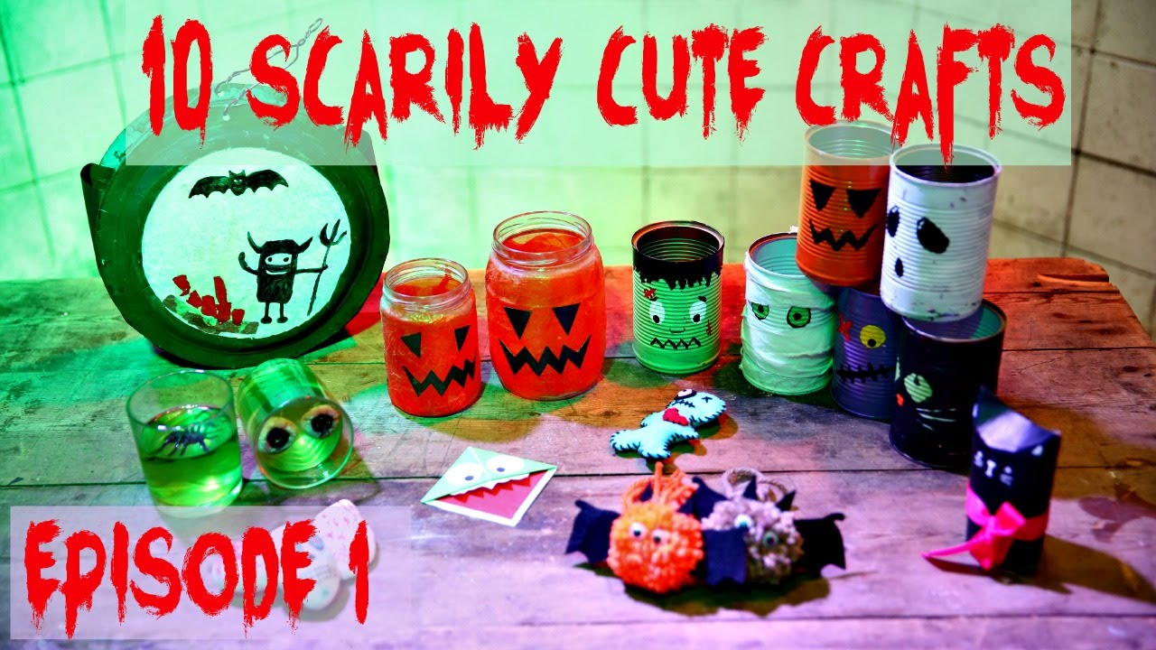 10 halloween diys cute easy crafts episode 1 youtube