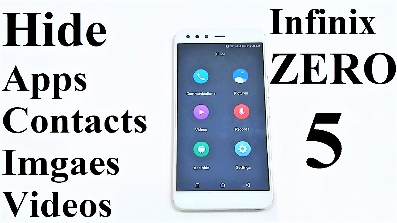 How to Hide Apps, Contacts, Images, Videos in Infinix ZERO 5, NOTE 4 or ANY  Infinix Smartphone