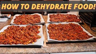 HOW TO DEHYDRATE FOOD FOR CAMPING