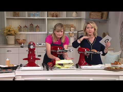 KitchenAid Sheet Cutter Stand Mixer Attachment On QVC