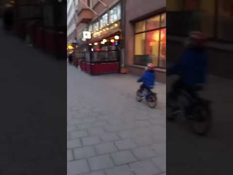The Ace & TJ Show - Bicycle Kid Gets Distracted and Pays the Price!