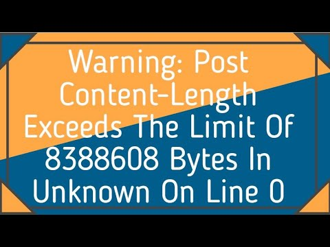 Post content-length of bytes exceeds the limit of bytes wordpress