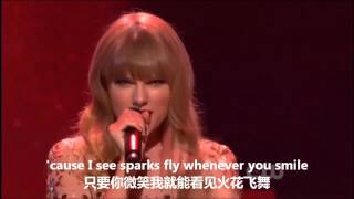 Taylor Swift - Sparks Fly (live)中英字幕