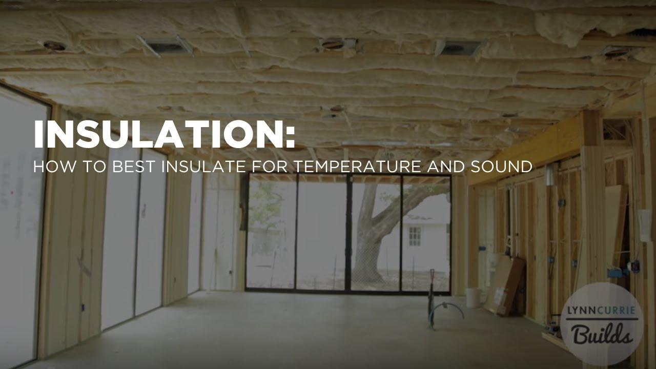 Insulating With Spray Foam For Temperature And Batts For