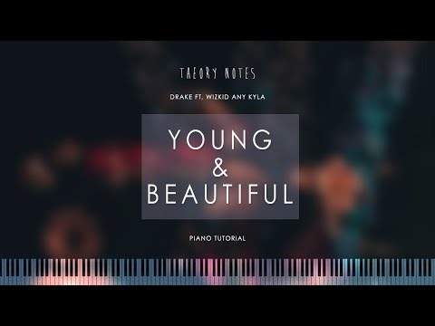 How to Play Lana Del Rey - Young & Beautiful | Theory Notes Piano Tutorial