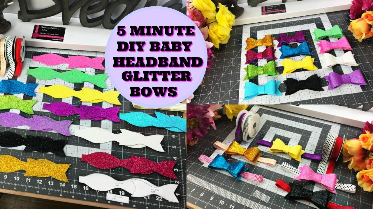 Glitter bows baby diy for headbands clips do it yourself youtube glitter bows baby diy for headbands clips do it yourself solutioingenieria Images
